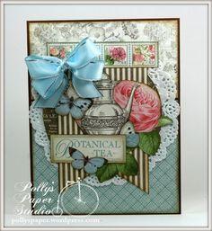 Botanical Tea Card - Scrapbook.com