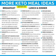 ⭐️KETO MEAL IDEAS⭐️ By Keto doesn't have to be boring! Make Keto work for you, not against you. Here are some Keto Meal Ideas… Keto Food List, Food Lists, Comida Keto, Eat Better, Starting Keto Diet, Best Keto Diet, Keto Diet Foods, High Fat Keto Foods, Paleo Vs Keto