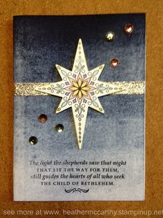 Stampin' Up! Star of light stamp set, Starlight thinlits