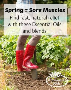Essential oils can offer natural relief for sore muscles.