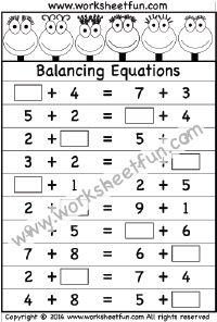 Balancing equations worksheet 1 15