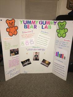 Science fair projects for middle school girls gummy bears 47 Super ideas - Gummy Bear Science Project, Gummy Bear Experiment, Science Fair Board, Science Fair Experiments, Science Fair Projects Boards, Science Experiments For Preschoolers, Science For Kids, Projects For Kids, Earth Science