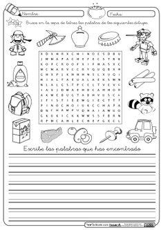 1000+ images about sopas de letras para chicos on Pinterest | Animales ...