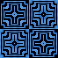 Artwork by at Grid Paint. Mosaic Patterns, Pattern Art, Beading Patterns, Quilt Patterns, Crochet Patterns, Pixel Crochet, Crochet Chart, Beaded Crochet, Crochet Bags