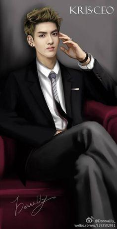 Shared by Rubi Choi. Find images and videos about kpop, exo and exo-m on We Heart It - the app to get lost in what you love. Exo Fan Art, Exo Lockscreen, Wu Yi Fan, Kpop Exo, Kris Wu, Kpop Fanart, Disney Fan Art, Lady And Gentlemen, Film Movie