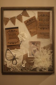 Wedding Shadow Box I Need To Do This For Our And One Chloe