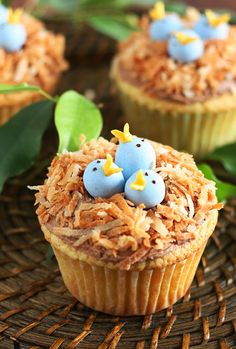 Bird's Nest Cupcakes - Cooking Classy