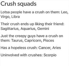 WAIT THIS MIGHT JUST BE THE ONE TIME MY ZODIAC SOGN ACTUALLY MAKES SENSE TO ME. my crushes are all hopeless.
