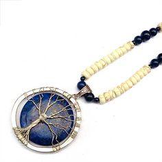 Tutorials   Tree Of Life Lapis Lazuli Howlite Necklace   Beading & Jewellery Making Tutorials