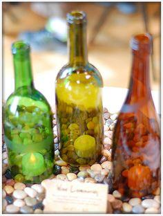 Wine Bottle Luminaries | Green Illuminations