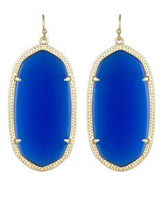 Danielle Earrings in Cobalt - Kendra Scott Jewelry.