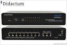 Die AKCP sensorProbe8 (AK-SP8) hat 8 RJ45 Ports zum Anschluss von intelligenten IP -basierten Sensoren zur Überwachung von unternehmenskritischen. Ein 19 Zoll Rack Mount Kit (1HE) zur Montage im Serverrack ist im Lieferumfang ebenfalls enthalten. Die AKCess Pro sensorProbe8 (AK-SP8) ist leicht zu installieren und über das Web Interface einfach zu konfigurieren.