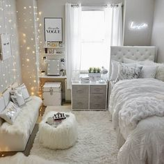 bedroom decor for small rooms ~ bedroom decor ; bedroom decor for couples ; bedroom decor ideas for women ; bedroom decor for small rooms ; bedroom decor ideas for couples ; Teenage Room Decor, College Room Decor, Room Decor For Girls, Girls Bedroom Decorating, Decorating Tips, College Girl Apartment, Teen Girl Decor, Decorations For Room, College Bedrooms