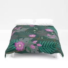 Magical flowers Duvet Cover Throw Blankets, Comforters, Duvet Covers, Bed, Flowers, Design, Home Decor, Creature Comforts, Quilts