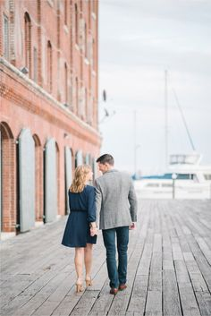 Fells Point Baltimore Area Engagement Portraits
