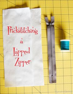 Prickstitching a Lapped Zipper