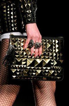 pyramid stud purse