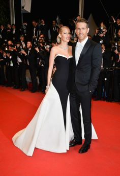 The gorgeous couple Blake Lively and Ryan Reynolds were spotted at the Cannes International Film Festival 2014. Awww, how adorable. And hats off to Ryan for taking his immaculate evening suit to greater heights by pairing it up with those superb patent shoes from Jimmy Choo.