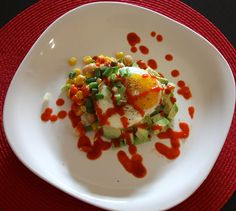 The Timeless Chef: Fried Egg with Chickpea Salad and Sriracha