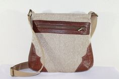 CLEARANCE / Sandy Woven Herringbone CrossBody Faux by NeenaBags