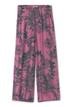 <p>The Brita Trousers are a pair of go-anywhere trousers in a soft material with a fluid feel. They have a wide elasticated waistband at the back, a dropped