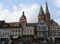 Half-timbered houses in Gelnhausen