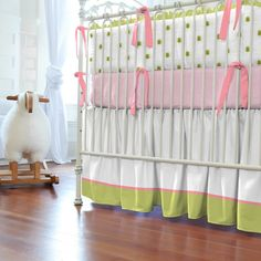 Google Image Result for http://www.babybedding.com/collections/LPPA/lime-and-pink-paisley-crib-skirt-gathered-14-inch-with-4-inch-trim-and-accent.jpg