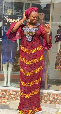 African Dresses For Women, African Wear, African Attire, African Fashion Dresses, Fashion Outfits, Ankara Long Gown Styles, Lace Gown Styles, African Print Fashion, Africa Fashion