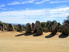 Megalithic Stone Circle of Almendres, Portugal, 500 to 1000 years older than Stonehenge.