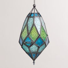 One of my favorite discoveries at WorldMarket.com: Medium Antigua Pieced Glass Lanterns, Set of 2