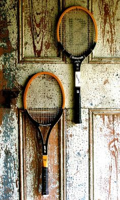 Two Vintage Wooden Tennis Rackets from the by GypsyDanceVintage, $38.00 ETSY.COM