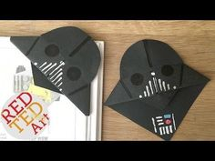 Easy Darth Vader Bookmarks for Father's Day - YouTube