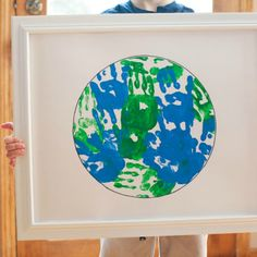 Handprint Earth Day Art Project #earthday #handprintart #earthdaycrafts