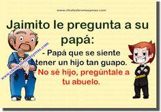 Chiste Gráfico, Chiste de Jaimito, hijo, papá, abuelo