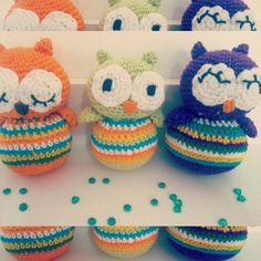 Trio de corujinhas finalizado! #owl #amigurumi #crochet #croche #artesanato by arteiradasilva