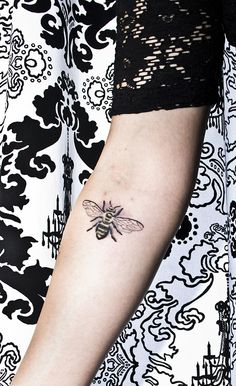 beautiful bee tattoo. found on fuckyeahtattoos.tumblr.com and the person who got it said it represents how much work they will have to do to succeed.