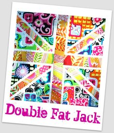 """double fat jack"" (Union Jack from 2 fat quarters) tutorial (may 6, 2011)"