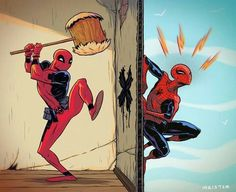 The deadpool spidey relationship is just hilarious :)