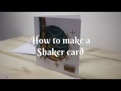 How To Make A Shaker Card - A Quick And Easy Tutorial - YouTube