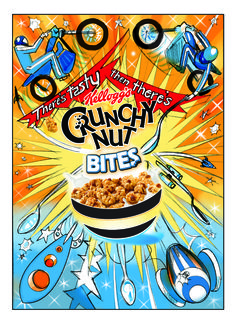 Crunchy Nut Bites Comic Books, Tasty, Comics, Cover, Creative, Cartoons, Cartoons, Comic, Comic Book