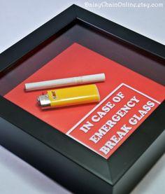 Gift for SMOKER Husband, Wife, Men, Women, Gift for Boyfriend, Girlfriend, Valentine -In Case of Emergency Break Glass (Cigarette & Lighter) Intelligent and ...