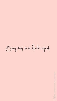 Cada dia é um novo começo