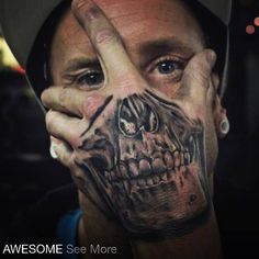Check out Friendly skull tattoo or other skull hand tattoo designs that will blow your mind, tattoo ideas that will be your next inspiration. Hand Tattoos, Skull Hand Tattoo, Weird Tattoos, Skull Tattoos, Tattoos For Guys, Tatoos, Wicked Tattoos, Skeleton Tattoos, Badass Tattoos