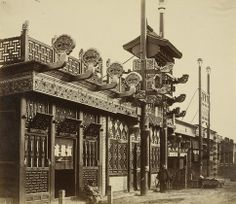 Shops and Street, Chinese City of Peking. October 1860, by Felice Beato. / #MIZUworld