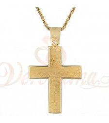 Σταυρός ανδρικός χρυσός Κ14 ST_111 Symbols, Letters, Letter, Lettering, Glyphs, Calligraphy, Icons