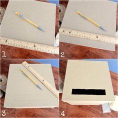 DIY Gift Card Box Cutting Instructions-- Sweet Tea in the South Wood Card Box, Diy Card Box, Wedding Gift Card Box, Gift Card Boxes, Wedding Boxes, Diy Box, Diy Wedding, Wedding Gifts, Wedding Table