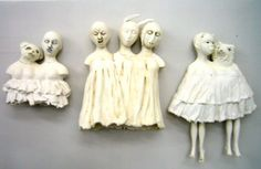 lisa clague Clay People, Paperclay, Clay Figures, Creepy Dolls, Diy Doll, Softies, Doll Toys, Art Dolls, Sewing Crafts