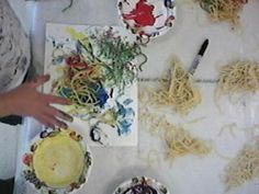Sensory Play Spaghetti Paint