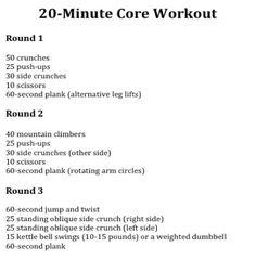 Seems like an ok 20 min. Workout