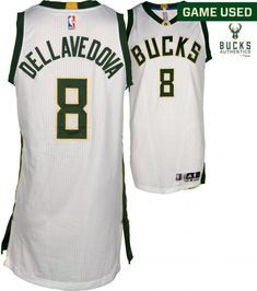0548680cf85 Matthew Dellavedova Milwaukee Bucks Game-Used #8 White Jersey vs. New York  Knicks on March 8, 2017